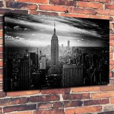 """Nueva York Empire State Building caja impresa cuadro lienzo A1.30""""x20"""" - 30 mm de profundidad"""