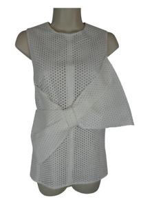 Lela Rose 2 S white top bow designer