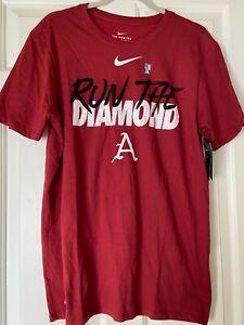 Nike Alabama Crimson Tide Shirt Run the Diamond Baseball Size Mens L NWT