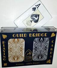 GUILD Arc & Arrow Black and Gold Bridge Size Jumbo Index Playing Cards