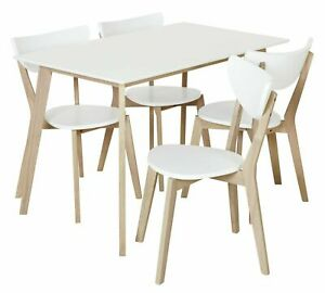 Harlow Dining Table & 4 Chairs - White