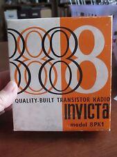 INVICTA Model 8PK1 Vintage 8 Tranisitor Radioin Original Box