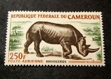 Cameroun Stamp Scott#  C51 Black Rhinoceros  1964  MH C418