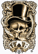 LUCKY 13 STICKER SKULL TOP HAT STICKER BORN TO LOOSE LIVE TO WIN STICKER
