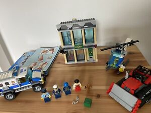LEGO City 60140 - Bulldozer Bank Break-in - Police Set - Complete & Instructions