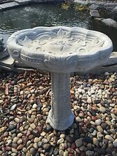 Large Fancy Detailed Bird Bath CEMENT STATUE CONCRETE Lawn Garden Decoration