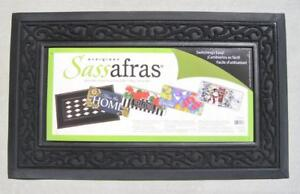 """Black Scroll Mat Tray 30"""" x 18"""" for Sassafras Switch Door Mats"""