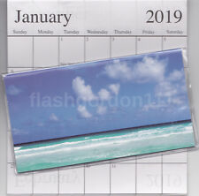 1  2019-2020 BEAUTIFUL BEACH 2 Two Year Planner Monthly Pocket Calendar Datebook