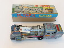 Daiya Olympia Express Loco Tintoy Blechauto 50er Jahre in Box Japan Friction