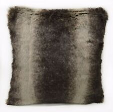 Fp753a Brown Beige Stripe Long Faux Fur Cushion Cover/Pillow Case*Custom Size*