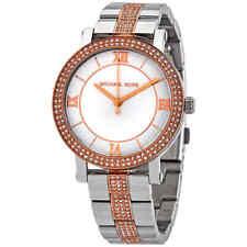 Michael Kors Norie Quartz Crystal Silver Dial Ladies Watch MK4406