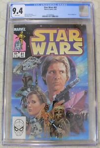 STAR WARS vol.1  #81  CGC 9.4 Return of Boba Fett, Painted Cover (Marvel)!!