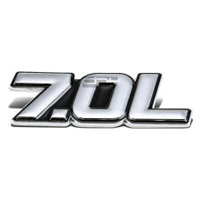 METAL BUMPER BODY GRILL EMBLEM DECAL STICKER LOGO BADGE CHROME BLACK 7.0 7.0L