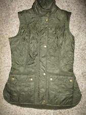 Barbour Cavalry Gilet Diamond Quilted Equestrian Olive green vest WOMEN SZ 6