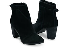 NEW TOMS Lunata Suede Bootie, Black Suede, Women Size 10, $120