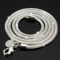 925 argento catena collana Snake Girocollo catenella NECKLACE UOMO Donna Chain