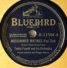 Teddy Powell Midsummer Matinee Voco-Dance Band 78 NM Be Careful Bluebird 11554