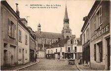 BONNEVAL [28] - Rue de la Grève et Place du Marché à la Volaille