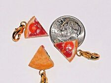 1 Pepperoni Cheese Slice Pizza CHARM CLIP Miniature dollhouse tiny little food *