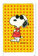 "Single Playing Card Pin Up ""Peanuts, Snoopy"" Hallmark 1607 L"