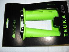 New Pair DK Tsuka Lock On Grips Soft Neon GREEN BMX Dirt Park Street Cruiser MTB