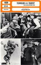 FICHE CINEMA : TERREUR A L'OUEST - Cagney,Bogart,Bacon 1939 The Oklahoma Kid