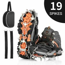 Ice Snow Shoe Grips Crampons Cleats Stainless Steel Traction Spikes Anti Slip L