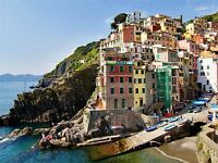 CINQUE TERRE ITALY HOUSES ARCHITECTURE COLOURFUL PHOTO ART PRINT POSTER BMP904A