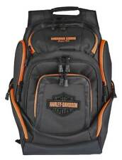 Harley-Davidson Neon Orange Bar & Shield Deluxe Backpack, Black BP2000S-ORGBLK