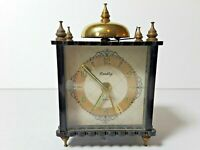 Vintage Bradley Germany Miniature Small Alarm Clock Not Working Floral Sides