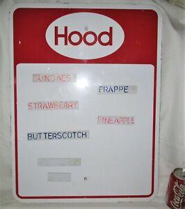 # 1 METAL HOOD ICE CREAM DAIRY MENU BOARD FOOD MAGNET ADVERTISING SIGN COW MILK