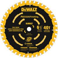 "DEWALT Precision Trim 6.5"" 40-Tooth Tungsten Carbide-Tipped Steel Saw Blade"