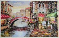 1000- Piece Adult Jigsaw Puzzle-Water City Bridge Jigsaw Puzzle Toys US DIY