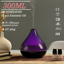 GX.Diffuser LED Aroma Diffuser Ultrasonic Humidifier Air Mist Aromatherapy 300ML