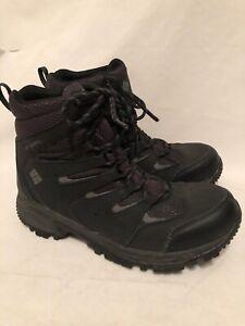 Columbia Gunnison Waterproof Hiking Boot Charcoal Gray Men Size 8.5 BM 1719-011