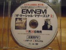 VERY RARE PROMO JAPAN Eminem DVD Berzerk + Survival videos RAP Dr. Dre MM LP 2 !