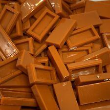 New - Lego 50 1x2 Tile - 3069 - Dark Orange [Earth Orange]