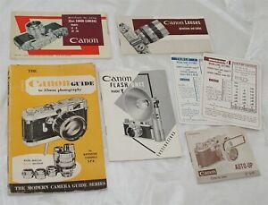 Canon Rangefinder Camera Original Manual, Brochures & Book