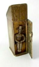 A Rare Victorian Novelty Brass Vesta Case Featuring 'Man on The Privy' - Lovely