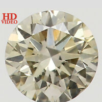 Natural Loose Diamond Yellow Color Round SI1 Clarity 3.20X2.00 MM 0.12 Ct L5156