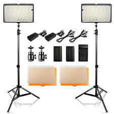 TRAVOR 2PCS 240LED Videoleuchte Kameralicht Studio Beleuchtung +Licht Stativ