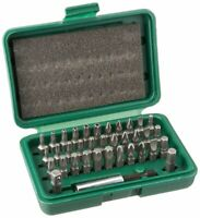 36 PC Security Bit W/ Magnetic Bit Holder Square Star Torx Slotted Phillips Hex