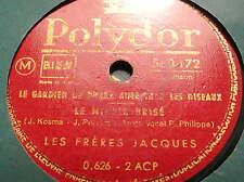 Les FRERES JACQUES chantent PREVERT - KOSMA -POLYDOR 560.172 - 78 rpm