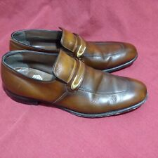 Freeman Brown/Cognac Leather Penny Loafers Shoes men's 10B