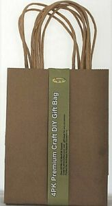 4 x Craft DIY Gift Bags with Handles by Agape