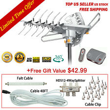 LAVA HD2605 UHF/VHF/FM Remote HDTV Antenna Outdoor with G3 Control Box