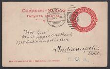 MEXICO, 1923. Post Card 130a, Tacubaya - Indiannapolis