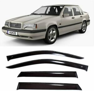 For Volvo 850 Sd 1991-1997 Side Window Visors Sun Rain Guard Vent Deflectors