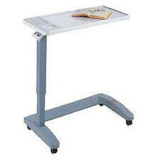 Overbed Table Hospital Mobile Adjustable Bed Medical Wheeled Tray Flat Rolling