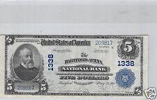 USA ETATS-UNIS NATIONAL BANK HARTFORD-AETNA $5 DOLLARS 28 MAI 1915 N° 209817